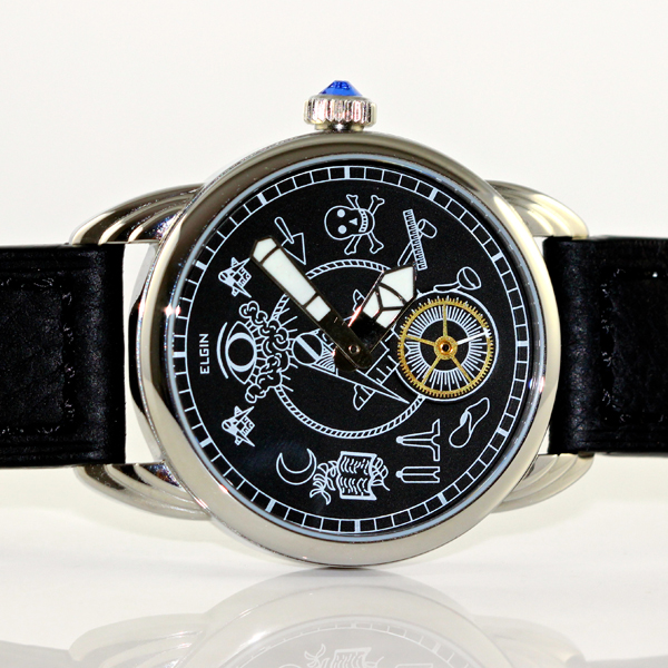 Steel Wrocket with Vintage Masonic Dial